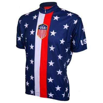 Buy Low Price World Jersey's Retro USA 1956 Short Sleeve Cycling Jersey (B005LRS59U)