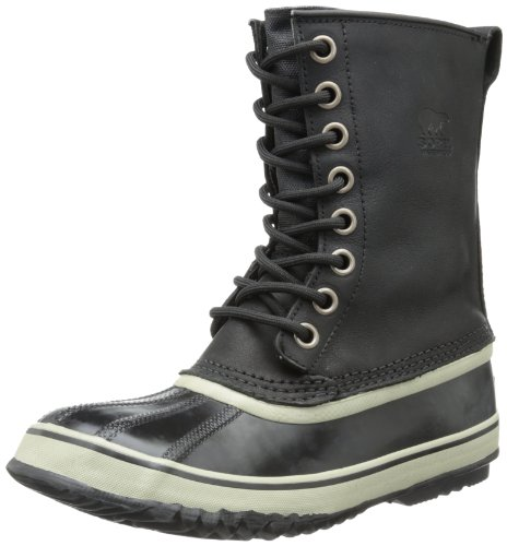 Sorel Women's 1964 Premium Leather Snow Boot,Black/Stone,5 M US