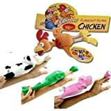 12pc Set Of Slingshot Flingshot Flying Animals Chicken, Cow, Frog And Pig Toy With Sound