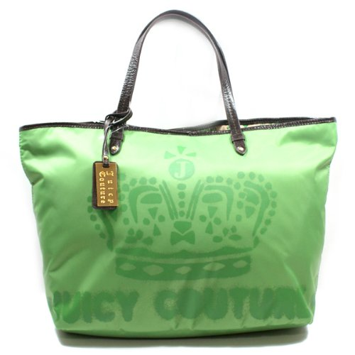 Juicy Couture Green Nylon Crown Tote (Green) #YHRU1925