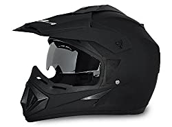 Vega Off Road Motocross Helmet (Dull Black, M)