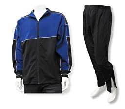 Roma youth and men\'s poly-knit athletic warmup set - size Adult L - color Navy/Black