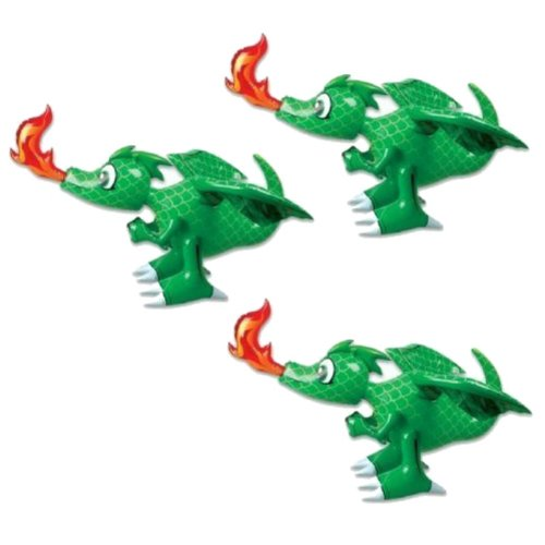Fire Breathing 30 Inch (GREEN) Dragon Infatable ** 3 pack**