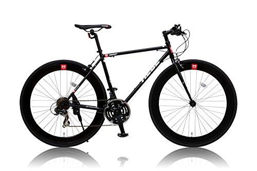 カノーバー クロスバイク  クロモリフレーム シマノ21段変速HEBE(ヘーベー) ラピッドファイヤー 前後ディープリム LEDライト標準装備 重量:11.2Kg 700×25C