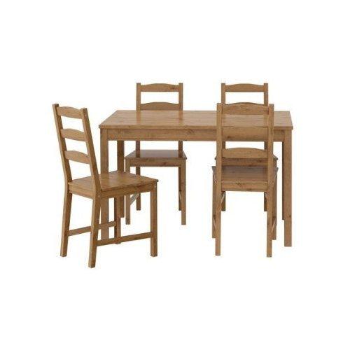 IKEA-Sitzgruppe-Jokkmokk-Tisch-4-Sthle-aus-massiver-gebeizter-Kiefer