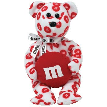 1 X TY Beanie Baby - RED the M&M's Bear (Walgreen's Exclusive) - 1