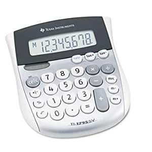 3 Pack TI-1795SV Minidesk Calculator, 8-Digit LCD by TEXAS INSTRUMENTS (Catalog Category: Office Equipment & Equipment Supplies / Calculators)