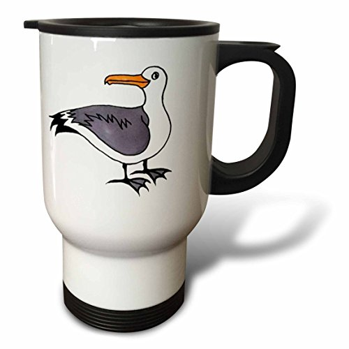 3dRose Sammy Seagull Travel Mug, 14-Ounce