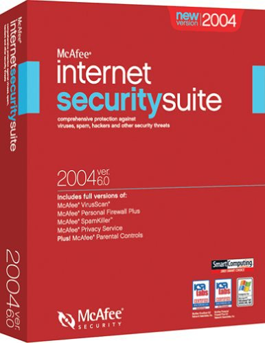 Mcafee Internet Security Suite V6.0 2004 - Virusscan, Firewall, Spamkiller, Privacy, Parental Controls back-610916