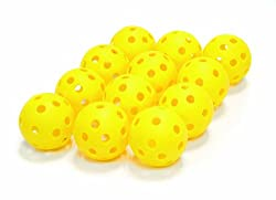 SKLZ Mini plastic Practice Balls, Pack of 12 (Yellow)