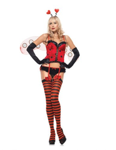 Sweetheart Bug Sexy 4Pc Md/Lg Halloween Costume