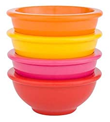 Zak Designs Assorted Red Brights 4-Piece Mini Bowl Set