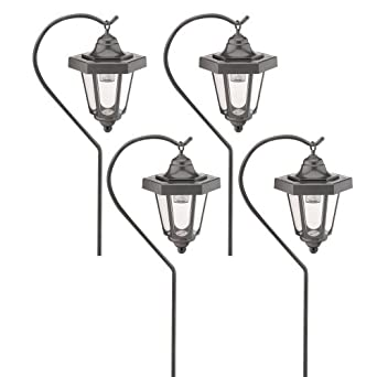 Malibu Outdoor One Light Solar Powered Carriage Light Graphite 4 Pack LZ4H