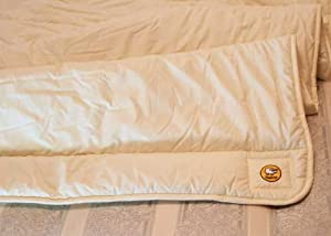 A 100% HYPO ALLERGENIC NATURAL WOOL KING SIZE MATTRESS TOPPER. WITH A 100% COTTEN PERCALE CASING. HAND MADE IN NORTH WALES. 225CM BY 220CM       Customer review and more information