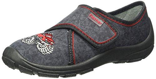 fischerjungen-klett-hausschuh-zapatillas-de-casa-con-forro-calido-para-ninos-color-gris-stone-420-ta