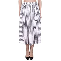 Forever9teen Forever9teen Striped Print calf Length Skirt(2SS16-0605-S)K16-XL)
