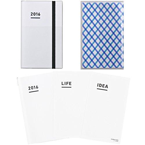 【Amazon.co.jp 限定】 コクヨ ジブン手帳 2016年 ファーストキット A5スリム ホワイト ニ-JFA1W-16