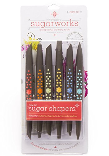 Innovative Sugarworks Firm Tip Shapers Cake Decorating Unique Tools (Pack of 6), Dark Gray