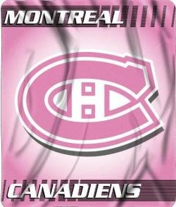 NHL Montreal Canadiens Pink Micro Raschel Throw Blanket 45