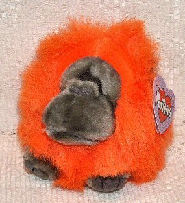 Puffkins Bean bag, NWT - Omar the Orangutan Monkey - 1