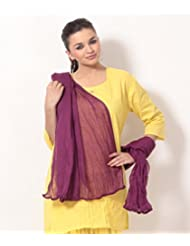 Rangsthali Cotton Solid Womens Dupatta Stole - B00TWKE9A6