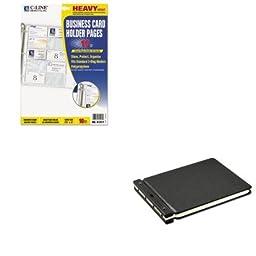 KITCLI61217WLJ24166N - Value Kit - Wilson Jones Raven Vinyl-Guarded Post Binder (WLJ24166N) and C-line Business Card Binder Pages (CLI61217)