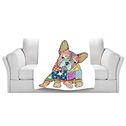 Blankets Ultra Soft Fuzzy Fleece 4 SIZES! from DiaNoche Designs by Marley Ungaro Home Decor Unique Designer Artistic Stylish Bedroom Ideas Couch or Throw Blankets - French Bulldog