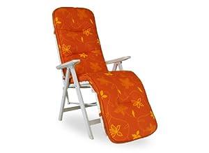 angerer 1025 077 korfu coussin pour fauteuil de relaxation orange jardin. Black Bedroom Furniture Sets. Home Design Ideas