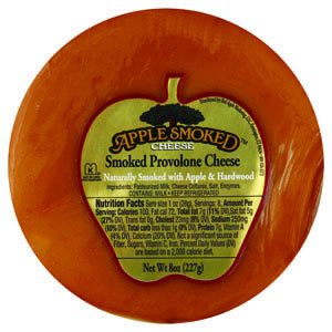 Apple Smoked Provolone Cheese, 8.0 OZ(Pack of 6)