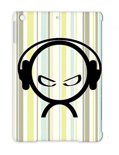 Dance Electronica Beat Music Alien Dj Headphones Djing Music Classical Wearing Dance Lover Black Tpu For Ipad Air Alien Headphones Case Cover