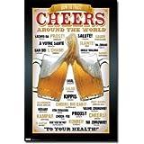 Beer Cheers Around the World Art Poster Print - 22x34 Poster Print, 22x34 Poster Print, 22x34 ~ Poster Revolution