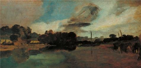 The High Quality Polyster Canvas Of Oil Painting 'Joseph Mallord William Turner - Walton Reach,1805' ,size: 12x25 Inch / 30x63 Cm ,this Beautiful Art Decorative Canvas Prints Is Fit For Home Office Decoration And Home Artwork And Gifts