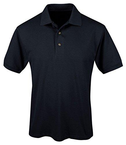 Tri-Mountain Mens 60/40 Easy Care Short Sleeve Pique Golf Shirt. 095 - Navy_Xlt front-691747