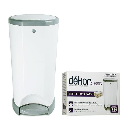 Diaper Dekor Classic Disposal System With 2 Pack Classic Refills front-241289