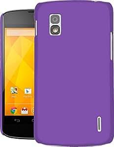FALCON Google Nexus 4 Case, Super Slim Hard Back Cover for Google Nexus 4 Purple