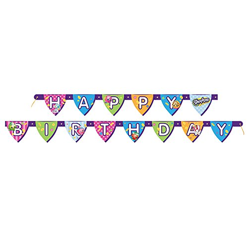 Buy Discount 6ft Shopkins Birthday Banner