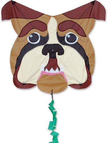 Premier 17344 Fun Flyer Animal Kite with Fiberglass Frame, Bull Dog