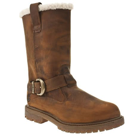 Timberland Nellie Pull On Boot - 7 Uk - Brown - Leather