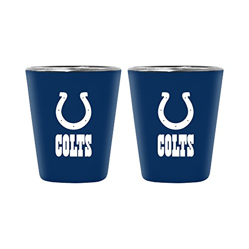 NFL Indianapolis Colts Lusterware Shot Glass, 2-ounce, 2-Pack