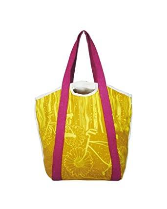 Free Ride Yellow Organic Cotton Handbag & Eco Tote