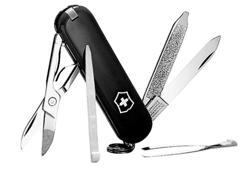 Victorinox Swiss Army Classic Sd Pocket Knife (Black)