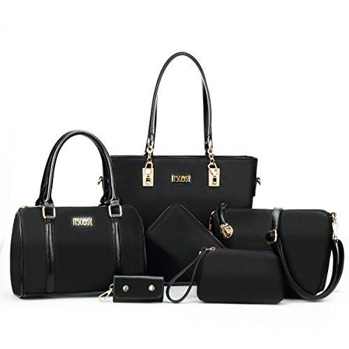Womens-6-Pcs-Shoulder-Bags-Top-Handle-Handbag-Tote-Purse-Set