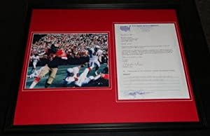 Jimmie Johnson Signed Photo - Framed 16x20 Letter & Display 49ers by Sports Memorabilia