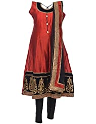 Ethnic Colors Women's Cotton Silk Salwar Suit Set - B019Z5SP6G