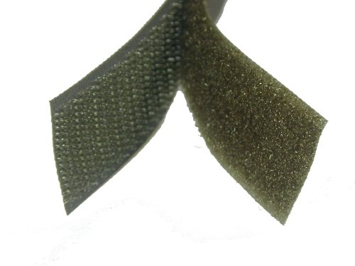 "1"" SEW On Velcro - Military Green/OD Green - 5 Yds of Hook and 5 Yds of Loop Per Package"
