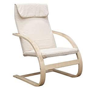 Amazon Com Niche Mia Reclining Bentwood Chair Natural