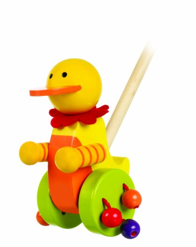Orange Tree Toys Duck Push Along