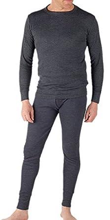 Sous-Vêtements Thermique (Maillot de Corps Manches Longues et Long Caleçon) Pour Homme White Large