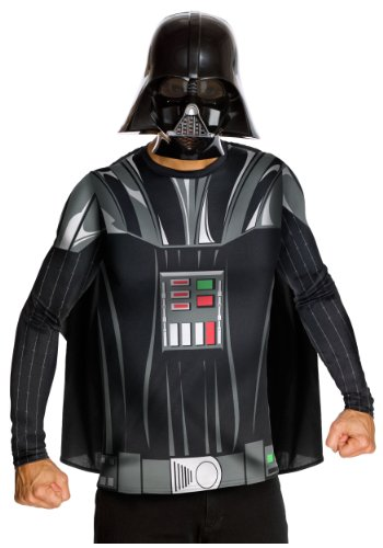 Rubies Mens Top Cape Mask Star Wars Darth Vader Fancy Party Costume