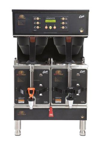 Wilbur Curtis Gemini Twin Coffee Brewer, 1.5 Gallon with IntelliFresh, Black - Commercial Coffee Brewer  - GEMTIF10B1000 (Each)